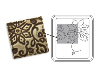 New! Sizzix Vintaj DecoEtch Die - Engraved Flowers
