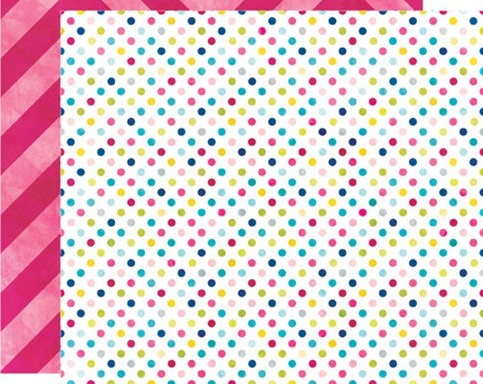 2 Sheets of Echo Park Paper HERE & NOW 12x12 Scrapbook Paper - Dots