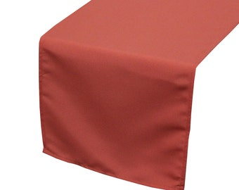 Coral Polyester Table Runner | Wedding Table Runners