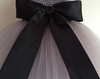 Satin Ribbon Dress Sash & Bow