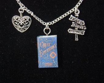 Great Expectations Book Necklace
