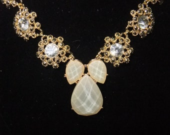 Champagne & Crystal Necklace