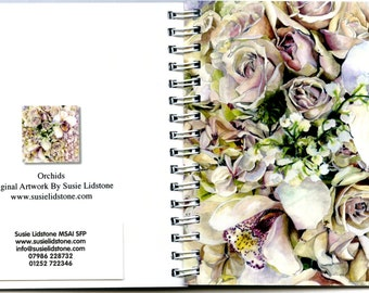 Orchids Square Notebook