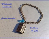 Dr who tardis bracelet in antique bronze