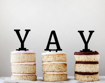 Single Letter cake topper or cupcake topper