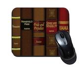 Jane Austen Mousepad - Jane Austen's Books - Book Lover Gift - Jane Austen Fan Gift - Book Reader Gift - Literary Mouse Pad - Mousepad