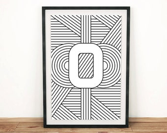 "Typography Print | Letter Print ""O"" 