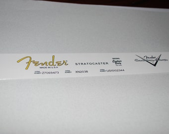 Repro US Fender Stratocaster Decal, with serial numbers plus 1 custom shop decal --  All waterslidest