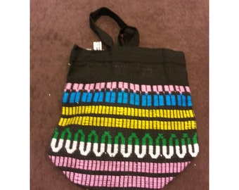 Striped Shoulder Bag- 8x8 inches 100 % Cotton
