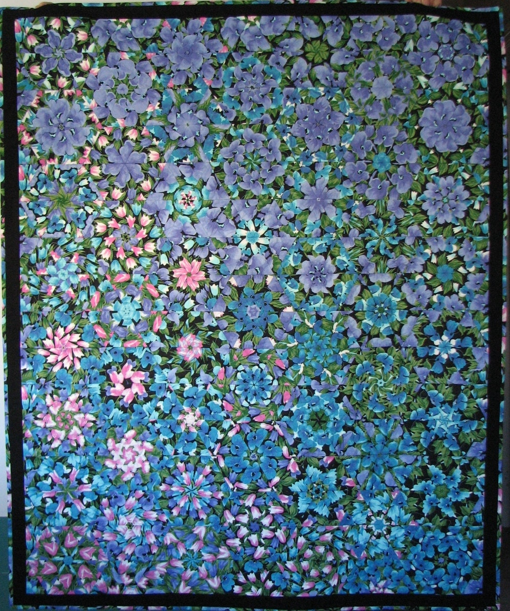 Kaleidoscope Ca: Quilted Throw Kaleidoscope Quilt Floral Quilt Floral Lap