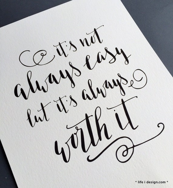 Items similar to inspirational quote print quot it s not