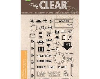 Hero Arts My Week Clear Stamps 4x6 Sheet CL849 Planner Stamps