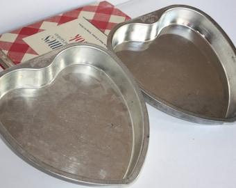 Vintage Bake King Metal Heart Cake Pan-Jello Mold-Housewares-Cake Pans-Pizza Pan-Baking Pan-Antique Dessert Pan-Salad Mold-Valentine's Cake