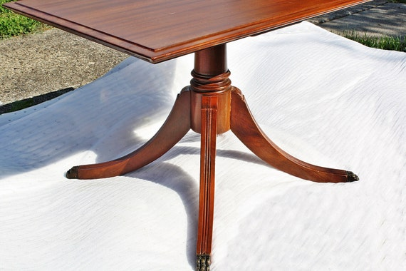 Antique unique imperial co mich mahogany side by for Coffee table with removable glass top