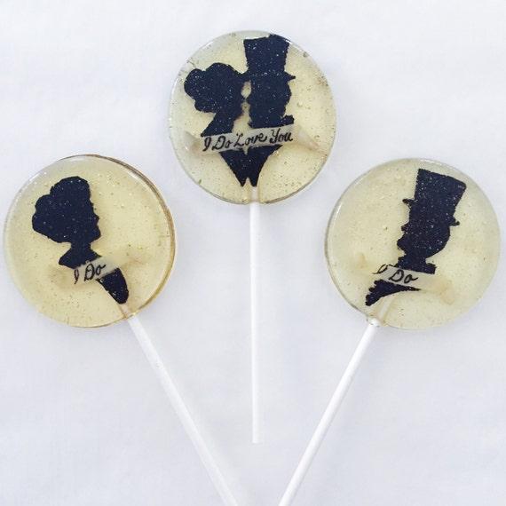 3 Bethrothed Beloved Silouhette Lollipops