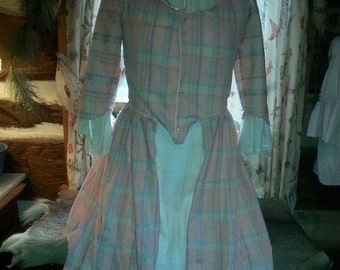 18 th Century Day Dress Scotish Style