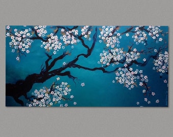 Painting Cherry Blossom CLEARANCE Painting Sakura Painting Art by Susie Tiborcz