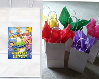 Team Umizoomi party favor goody bags personalized set of 10
