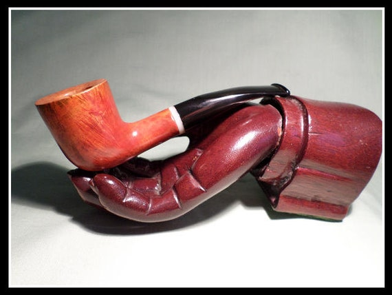 Briar Pipe New and Un-Smoked Chambersburg Pipe Works Bent Dublin with Flame Grain