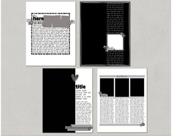 Lots To Say Set 2 - 8.5x11 Digital Scrapbooking Templates