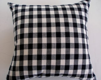 Black and White Check / Gingham Throw Pillow Cover -20 x 20-Handmade Modern Winter Trends -For the Home Interior Designer January Finds.