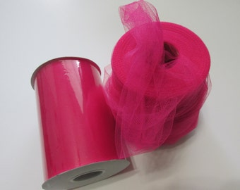 Fuchsia Tulle Fabric 100 Yards