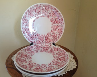 "Rare Vintage Set of (4)  Carefree True China by Syracuse ""MAYFLOWER""   6 1/2"" Bread & Butter Side Plate, great  condition"