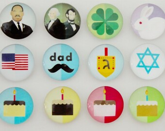 Mini set of Holiday Magnets