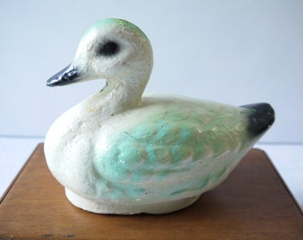 Gorgeous Vintage Plaster Duck Ornament