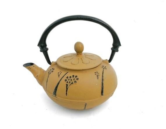 japanese tetsubin cast iron tea pot kettle