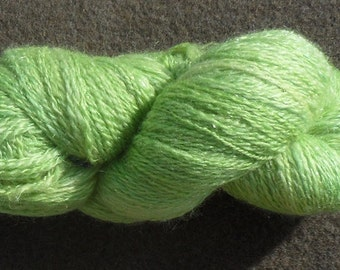 "Yarn - ""Irish spring"" handspun, 100 g, 290 m 2 ply - BFL/nylon"
