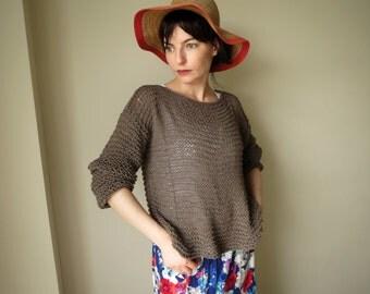Hand Knit Sweaters, Oversize Sweater, Women Sweater, Tunic, Jumper, Cotton Sweater