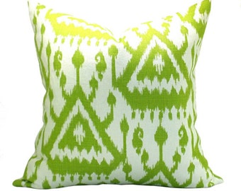 Vientiane Ikat pillow cover in Palm