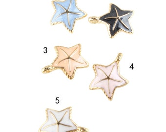 10 pcs of antique gold starfish charm pendants 23x27mm