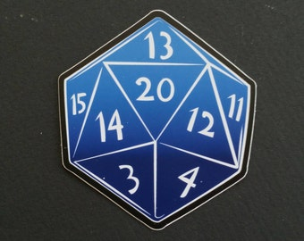 "RPG D20 3"" vinyl sticker"