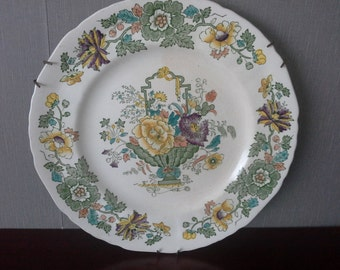 Flower plate by Mason made in England