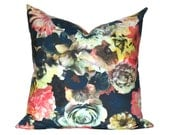 Radiant Floral -  Designer Pillow Cover - 1 SIDED OR 2 SIDED - Choose Your Size