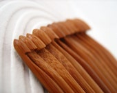 "Set of 12 Bamboo Crochet Hooks 3-10mm, Inline Style, Smooth, Strong, Tapered Point, Deep Throat/Bowl, 6""/15mm long"