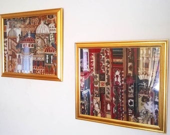 Pair of beautiful needlepoint pictures