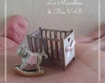 1/48 dollshouse miniatures 1/4 horse toy, hand made.