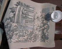 "Pastel drawing of a classical building ""Sans Souci""."