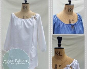 The Wendy Artisan Smock PDF sewing pattern, tunic sewing pattern, womens sewing pattern, peasant top, sewing pattern, top tunic pattern, pdf