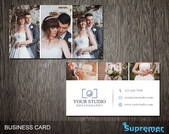 Photography Business Card Template - Business Card for Photographers Photoshop Templates PSD - BC019
