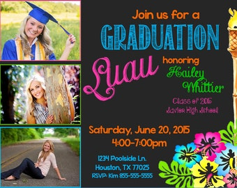Luau Invitation Graduation Birthday More TOP SELLER