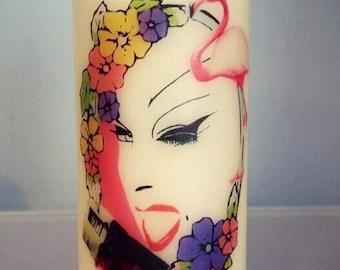 Handmade Divine Pillar Candle