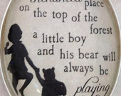 Winnie the Pooh, A Boy and His Bear pendant
