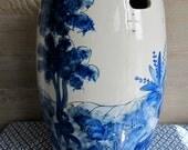 Mid-Century Ceramic Garden Seat/Stool | Made in SPAIN