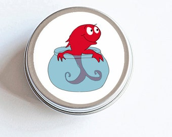 Large Dr. Seuss Red Fish inspired Sticker, Small Dr. Suess Red Fish, Birthday Party Favor