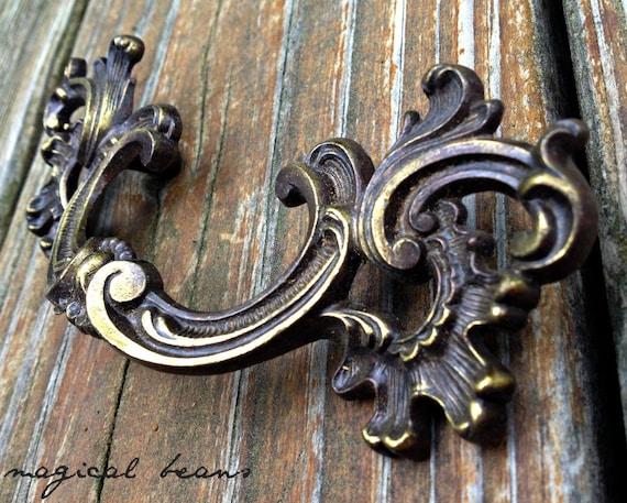 French Brass Drawer Pulls Vintage Drawer Pulls French