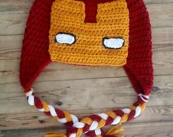 Crochet Ironman Hat